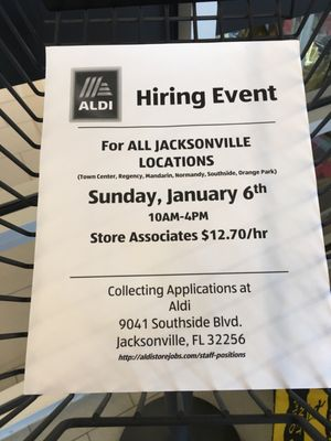 ALDI 9337 Atlantic Blvd  Unit #1 Jacksonville, FL Grocery