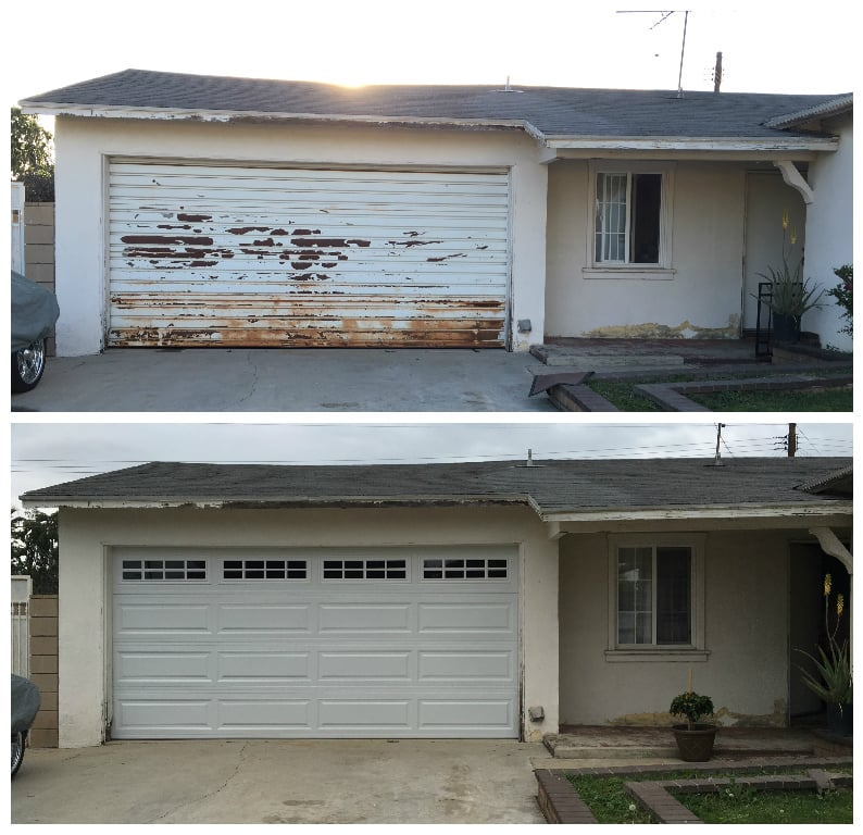 Before Amp After 20 Yr Old Door Thank You Asap Garage