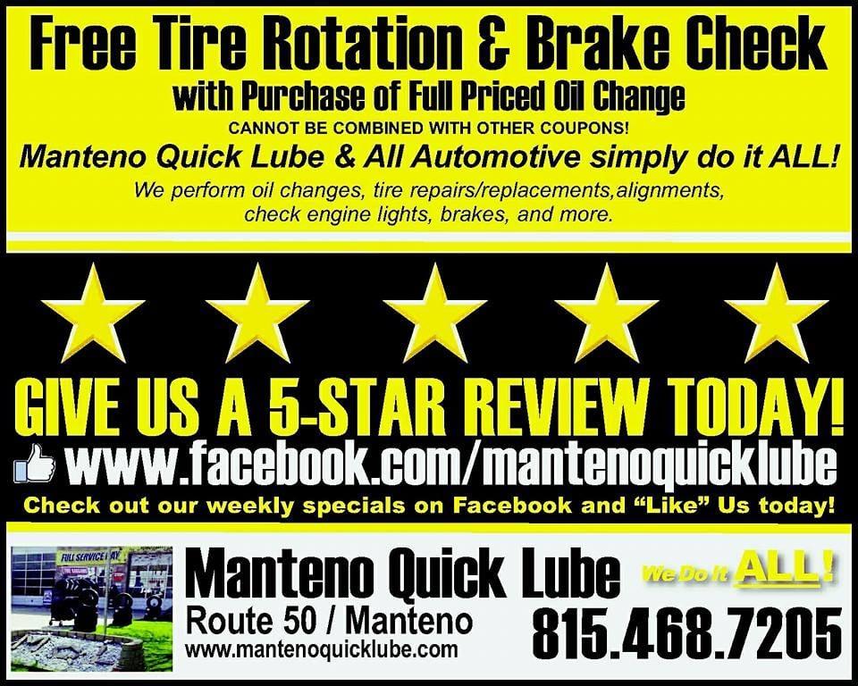 Manteno Quick Lube   29 Photos U0026 11 Reviews   Auto Repair   156 N Locust  St, Manteno, IL   Phone Number   Yelp