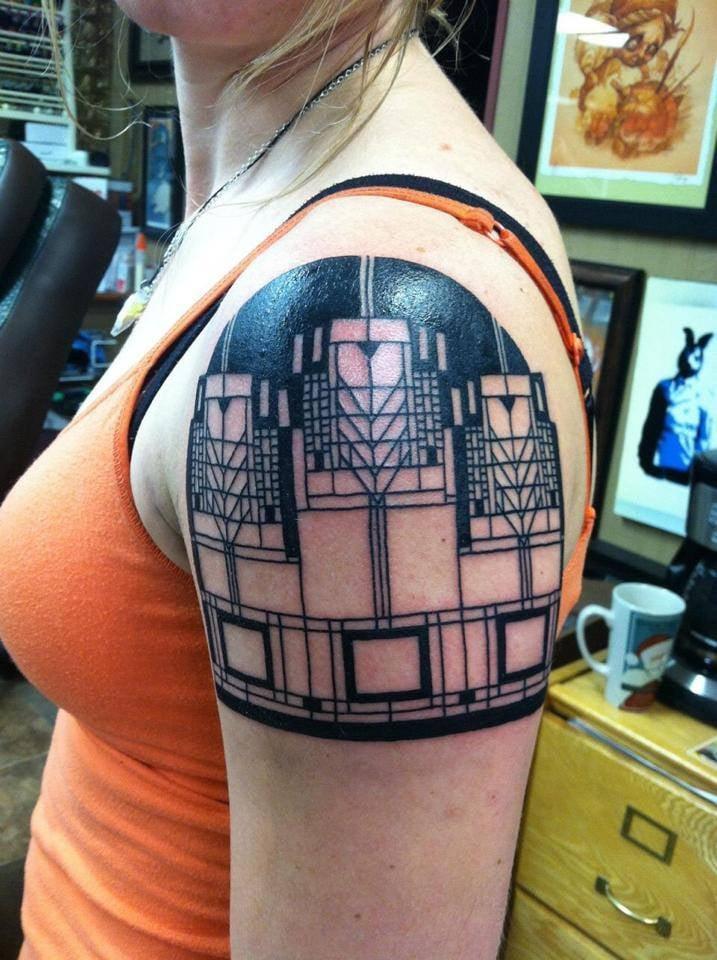 Frank lloyd wright inspired design by tbradley tattoo for Tattoo madison wi