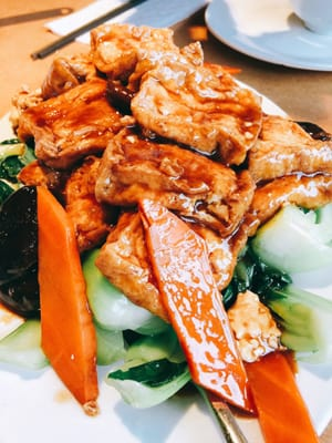 Photo of North Garden Restaurant - Coquitlam, BC, Canada. Braised Tofu with vegetables