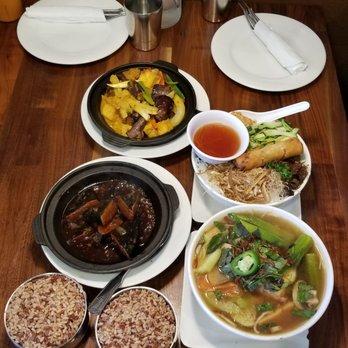 Photo Of Blossom Vegan Restaurant Pleasanton Ca United States Lunch Spread