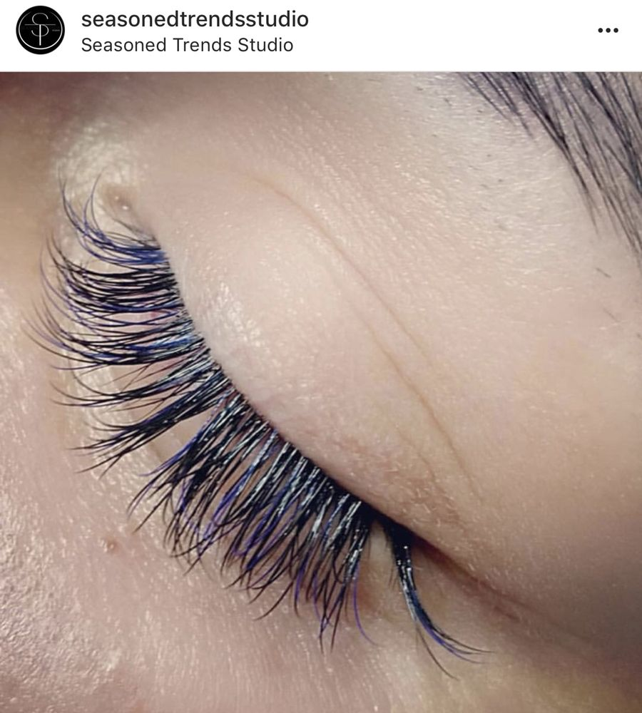 Classic Eyelash Extensions With Hints Of Blue Yelp