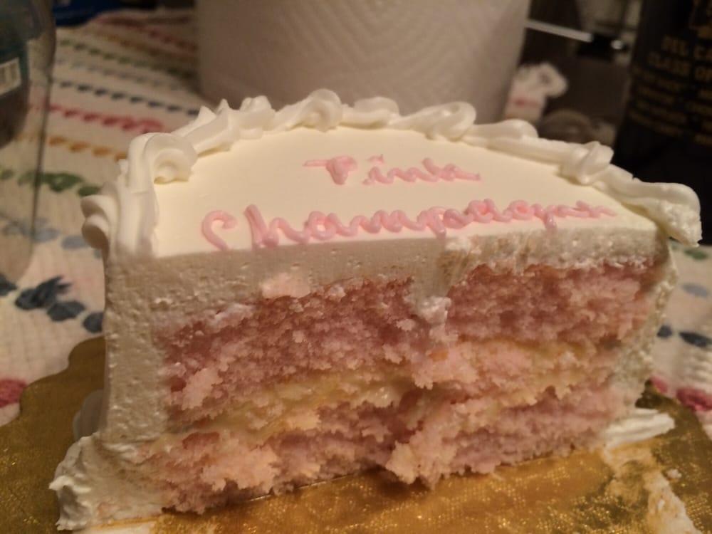 Sample pink champagne cake - Yelp