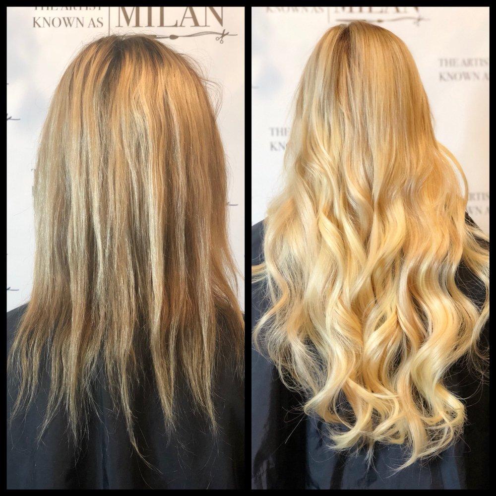 24 Inch Micro Bead Hair Extensions By Milan No Heat No Glue No