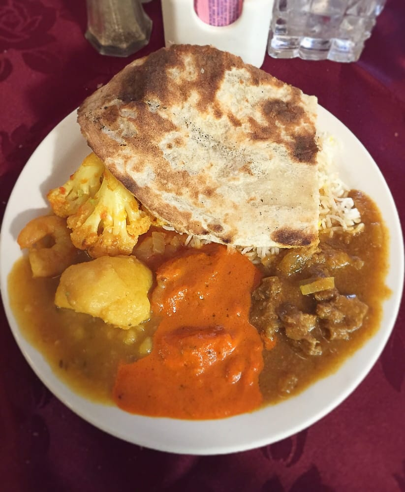 Lamb curry butter chicken shrimp curry and naan agra for Agra fine indian cuisine