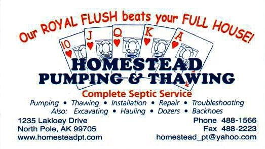 Homestead Pumping & Thawing: 1235 Lakloey Dr, North Pole, AK