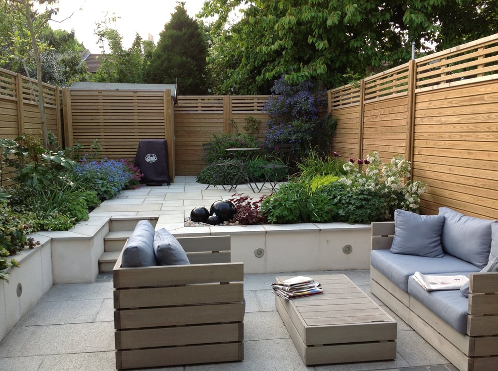 Photo Of Tim Mackley Garden Design   London, United Kingdom. Split Level  Contemporary Courtyard
