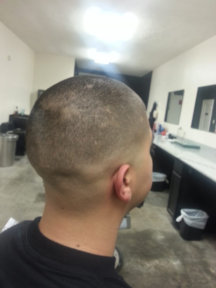 Bald Fade With A Number 1 On Top And A Razor Edge Up Yelp
