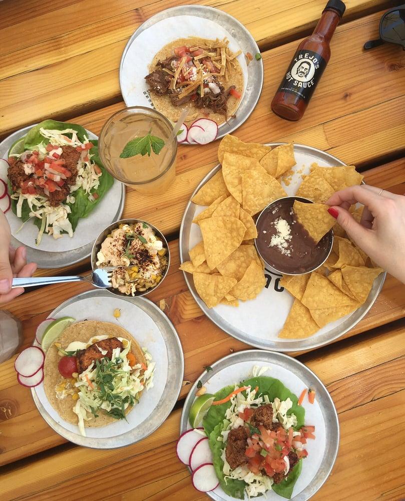Danny Trejo's gourmet tacos and salsa