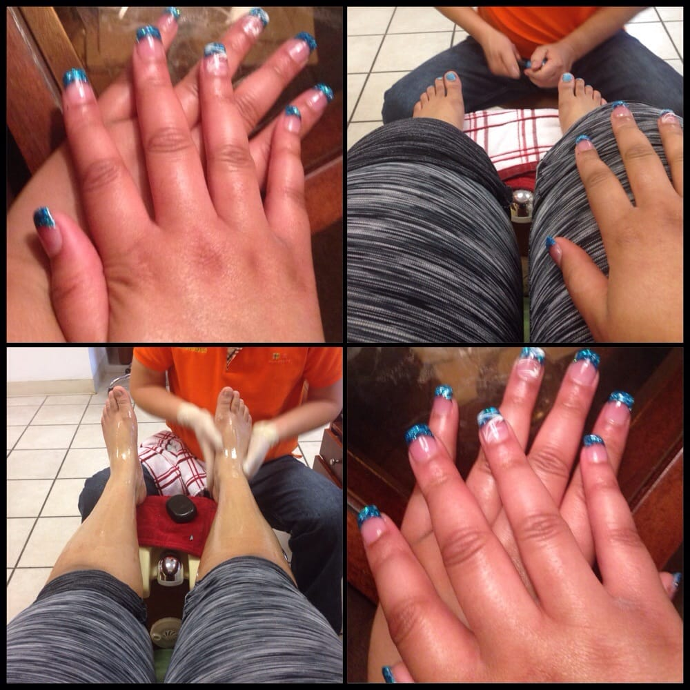 Deluxe pedicure & full set solar nails - Yelp