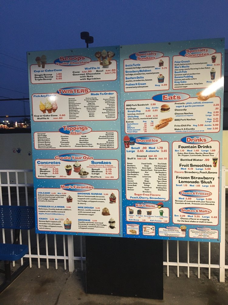 Eskamoe's Frozen Custard & More: 703 McMillan Rd, West Monroe, LA