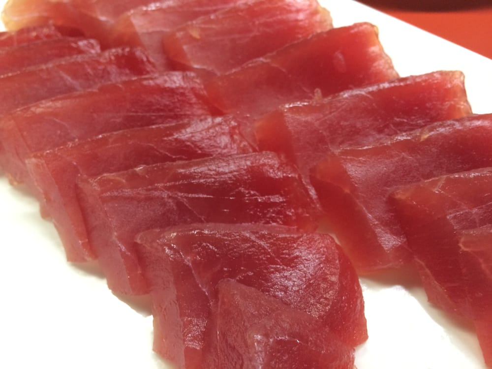 Our super frozen tuna is sashimi grade yelp for Sashimi grade fish