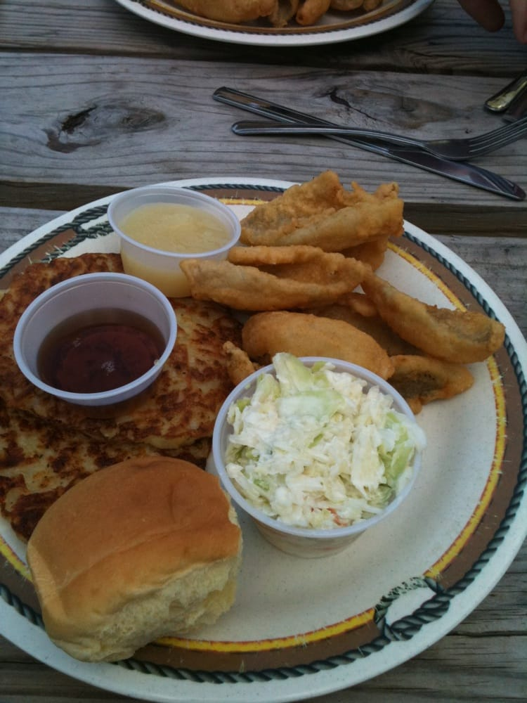 Friday night fish fry blue gill with potato pancakes for Friday night fish fry near me