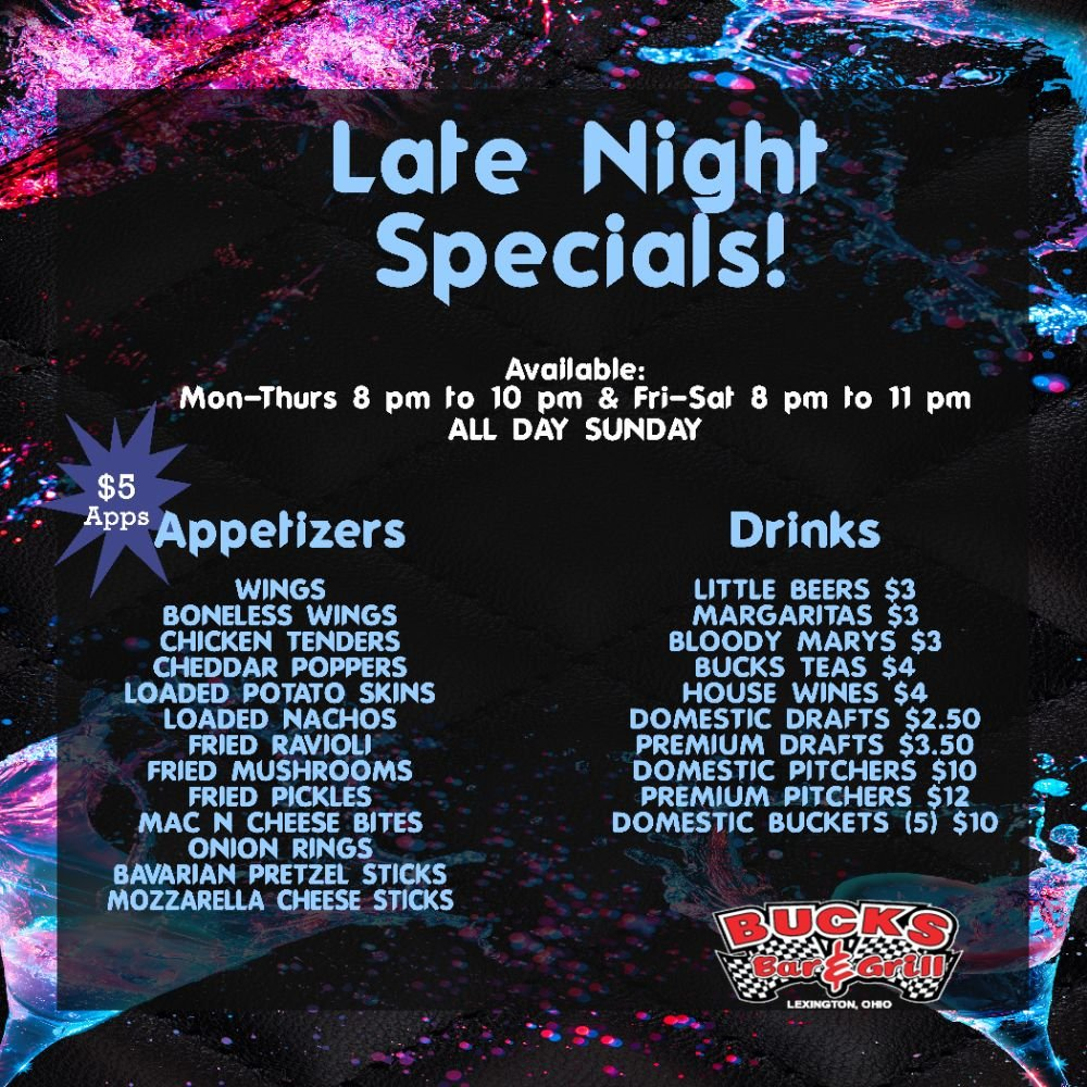Buck's Bar & Grill: 192 E Main St, Lexington, OH