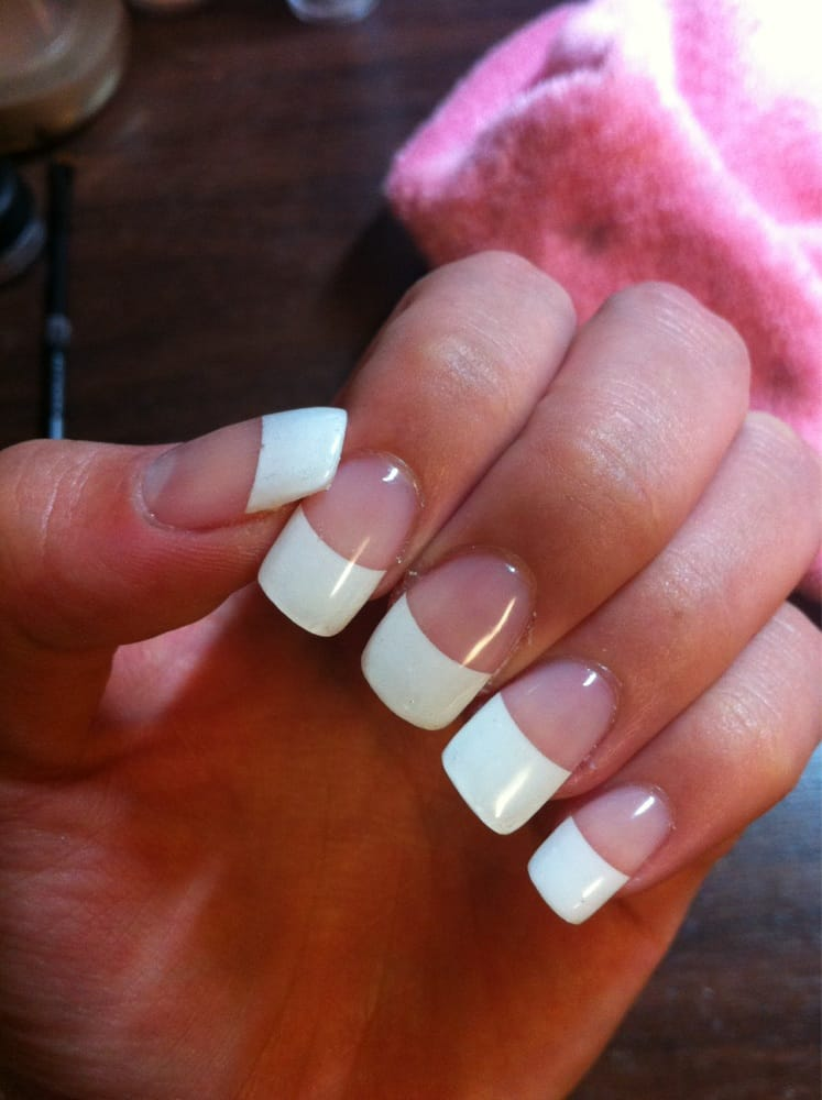 French tip gel nails, $45 - Yelp