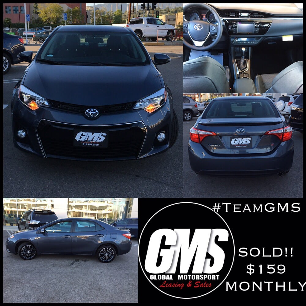 Lease A Toyota Corolla: 2016 Toyota Corolla S Plus For ONLY $59 Monthly!! 24 Month
