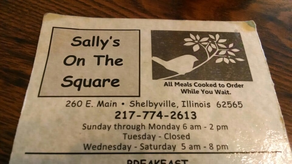 Sally's On the Square: 260 E Main St, Shelbyville, IL