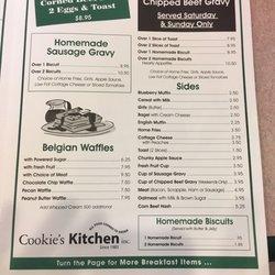 Cookie S Kitchen Pasadena Md Menu