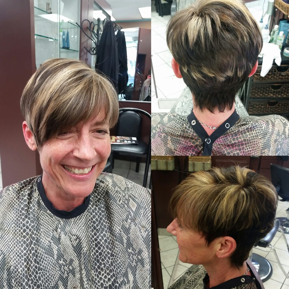 Dark Brown Base Color With Heavy Light Blonde Highlights Modified