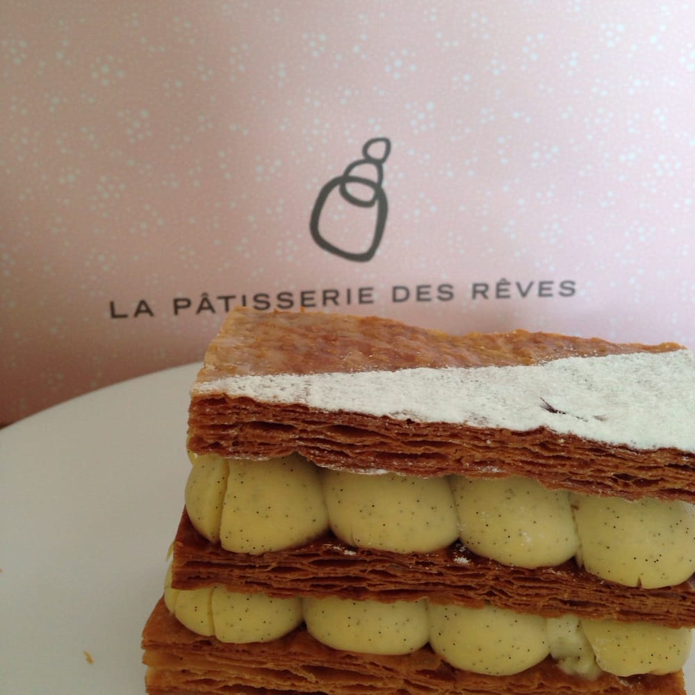 Patisseries - La Pâtisserie des Rêves - Paris, France. Millefeuille