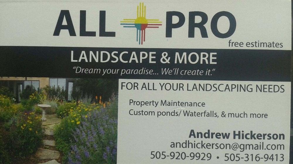 All Pro Landscaping & More - Landscaping - Santa Fe, NM - Phone Number -  Yelp - All Pro Landscaping & More - Landscaping - Santa Fe, NM - Phone
