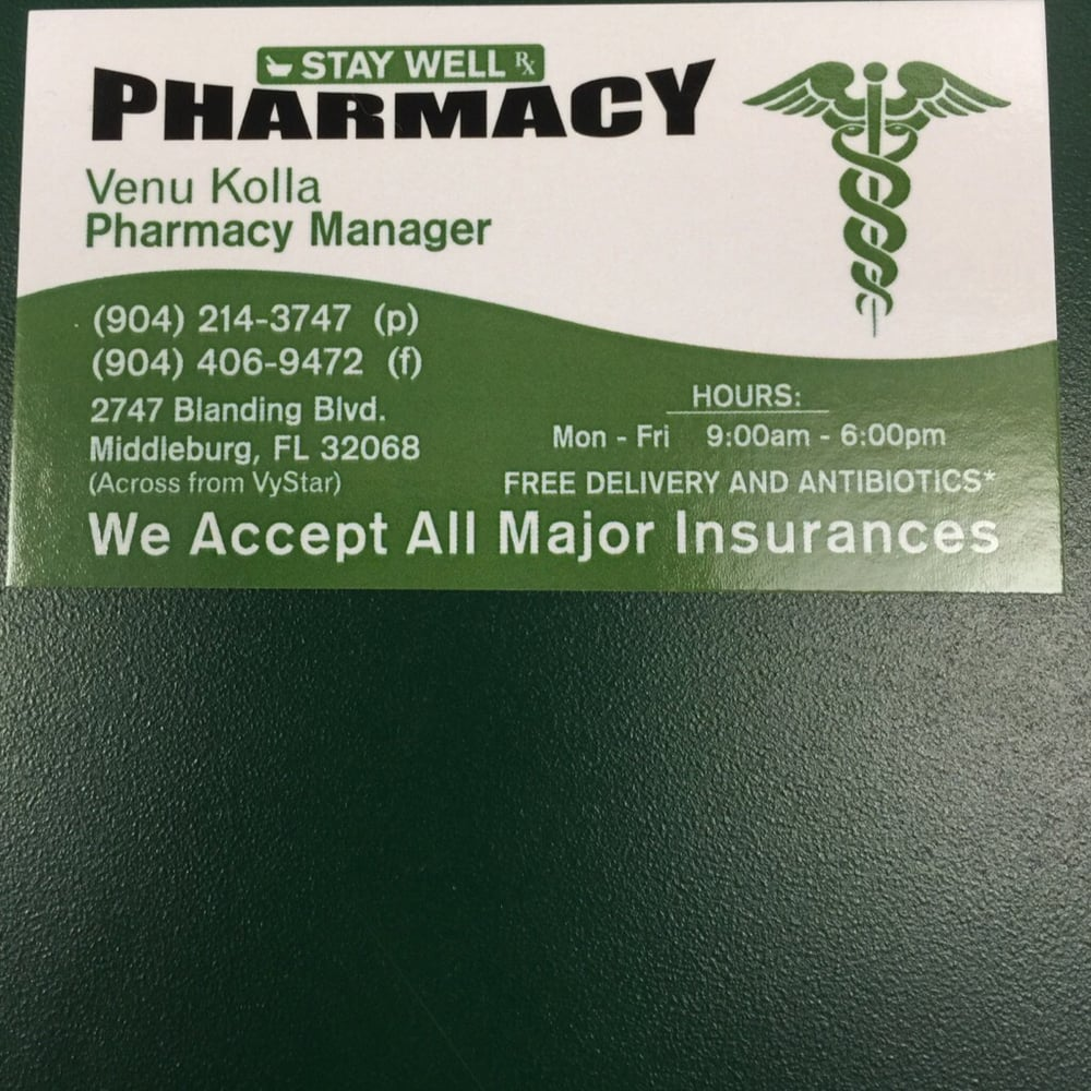 Stay Well Pharmacy: 2747 Blanding Blvd, Middleburg, FL