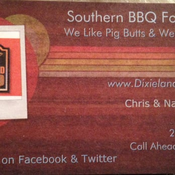 Dixieland bbq food trucks downtown san antonio tx for Business cards in san antonio