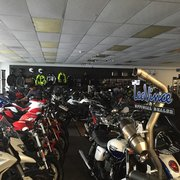 Photo of Pandora's European Motorsports - Chattanooga, TN, United States. Before they roll all the bikes outside each morning, it's a bit cramped inside. Plenty of room afterwards.