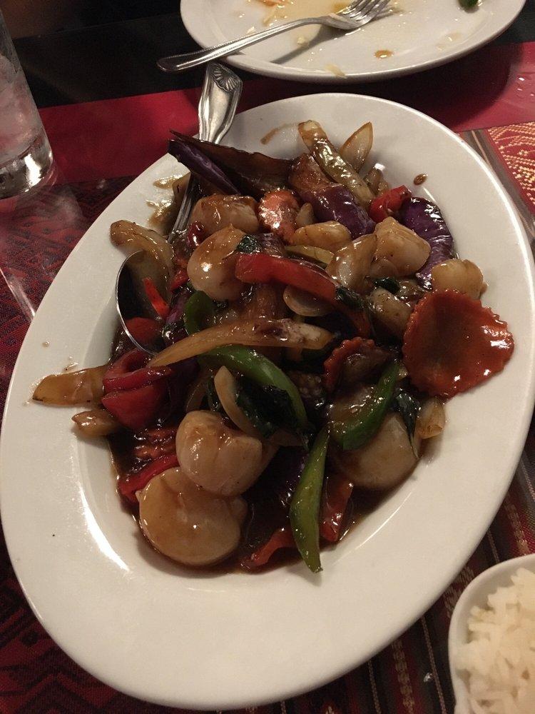 Basil eggplant with scallops yelp for 22 thai cuisine yelp