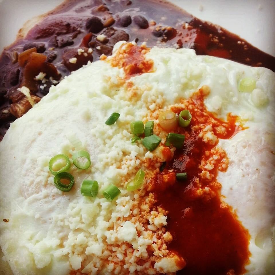 Huevos rancheros on the saturday and sunday brunch menu yelp for Food bar food harrisonburg virginia