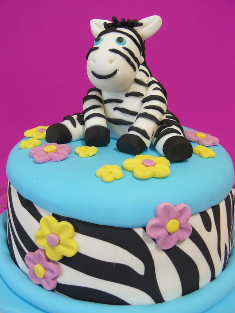 Cute Zebra Cake Is Perfect For A Young Boys Birthday And Can Be