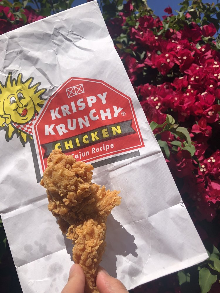Food from Krispy Krunchy Fried Chicken