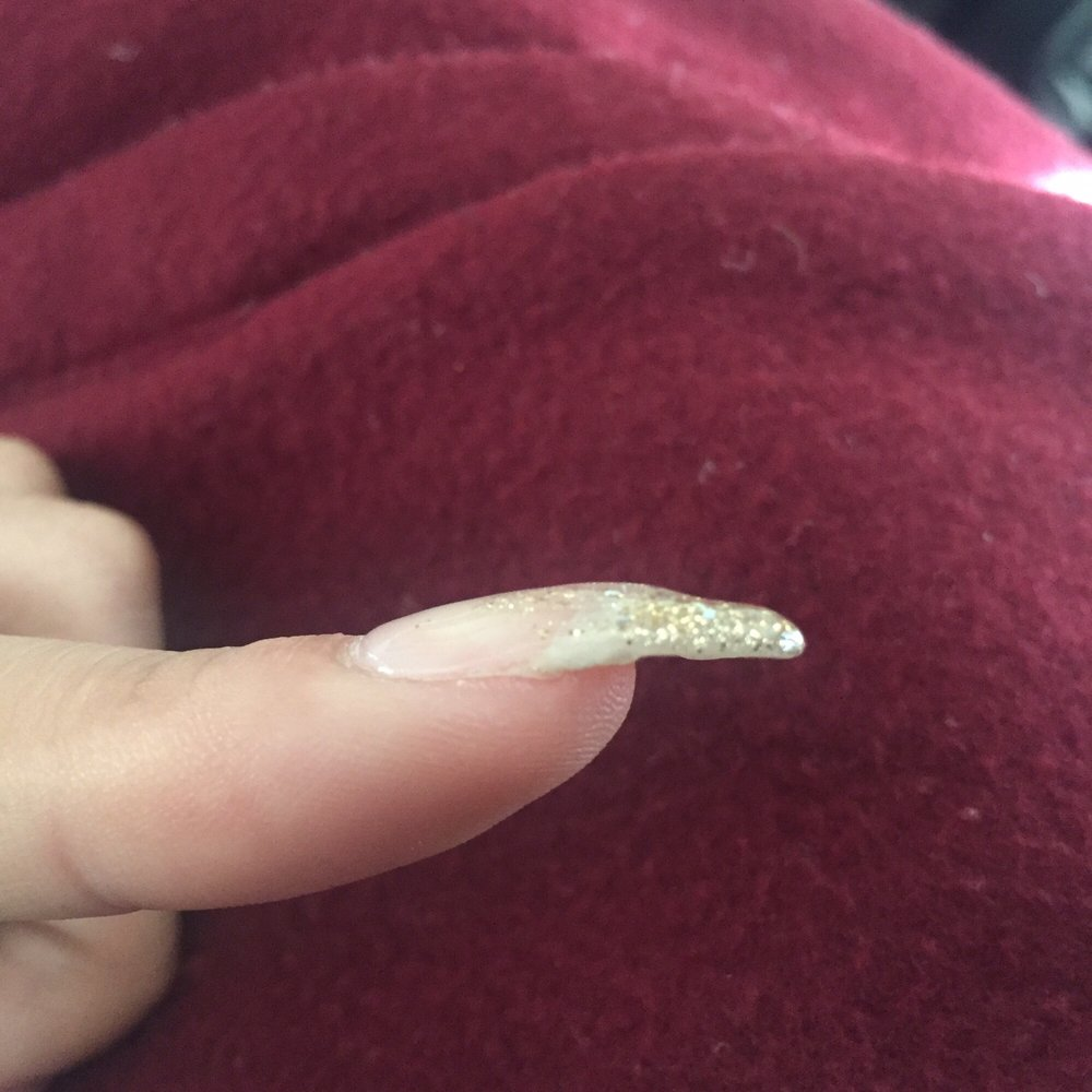 Ok I just realized one of my nail\'s surface is uneven even with the ...