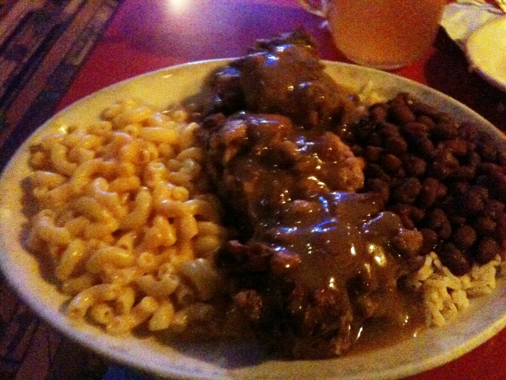 ... CA, United States. Oxtails with mac and cheese, and red beans and rice
