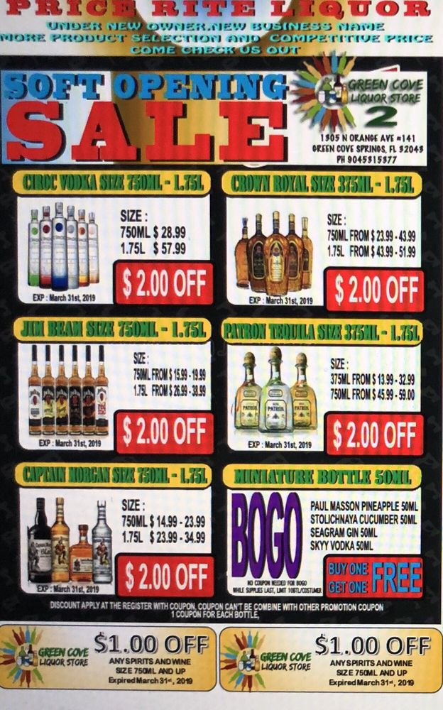 Green Cove Liquors: 208 N Orange Ave, Green Cove Springs, FL