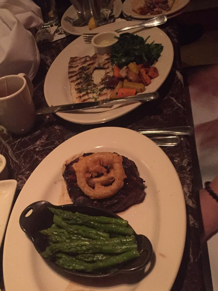 Steak And Rainbow Trout In The Back Yelp