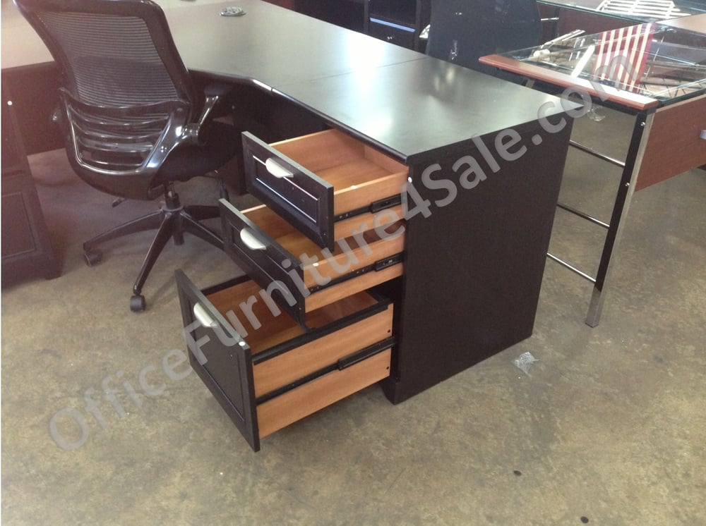 Magellan Performance L Desk With Hutch In Espresso For Only 72 W X 72 D Yelp