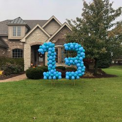 Photo of Party Ballon Decorations - Orland Park, IL, United States. Beautiful yard balloon numbers