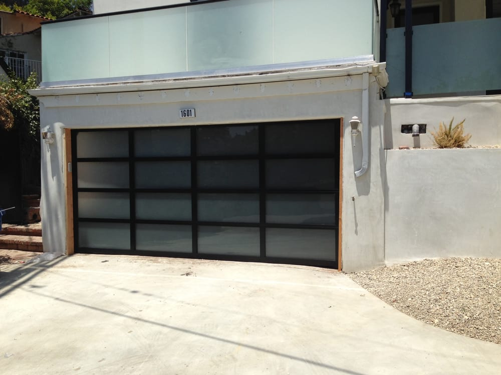All Glass Garage Door With Black Frame Install By Tony S