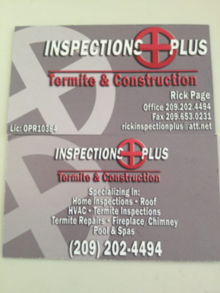 Inspections Plus Termite And Construction: Modesto, CA