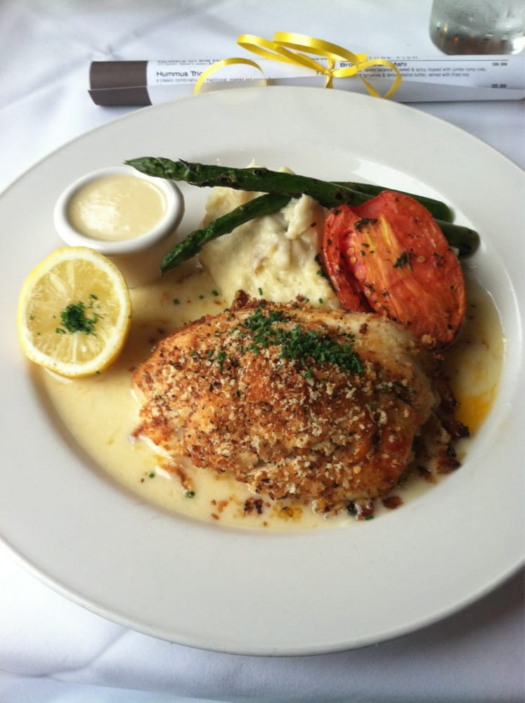 Tilapia stuffed with crab meat also included mashed for Stuffed fish with crab meat