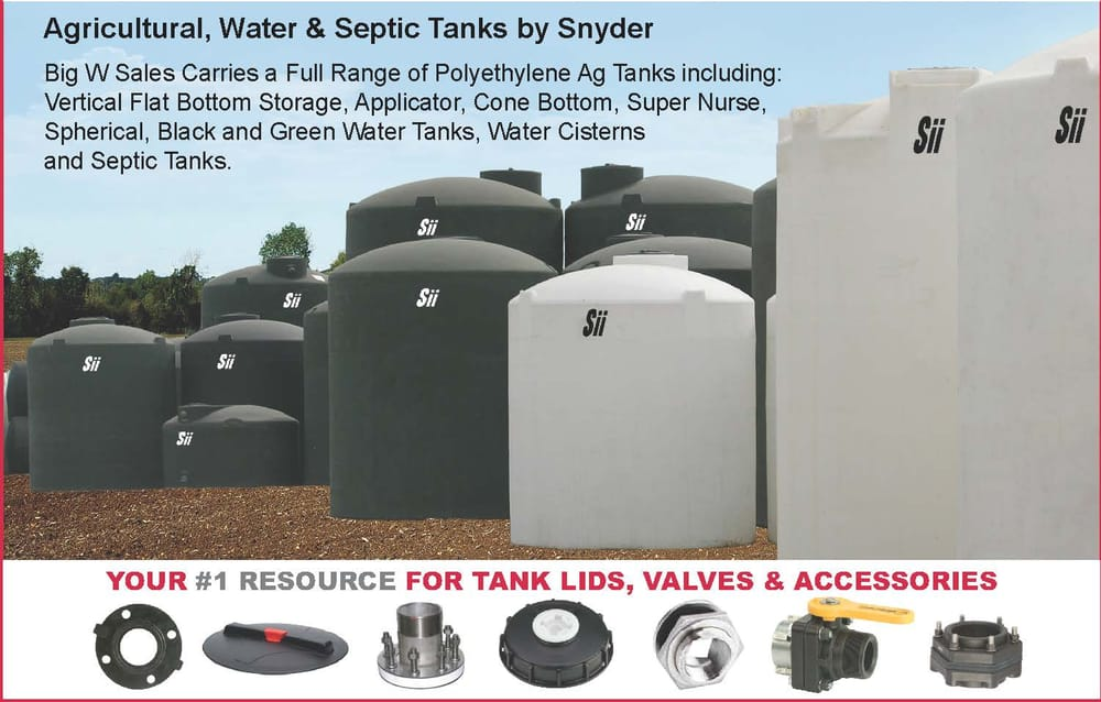 Poly ag, water and septic tanks, available in a wide ranges