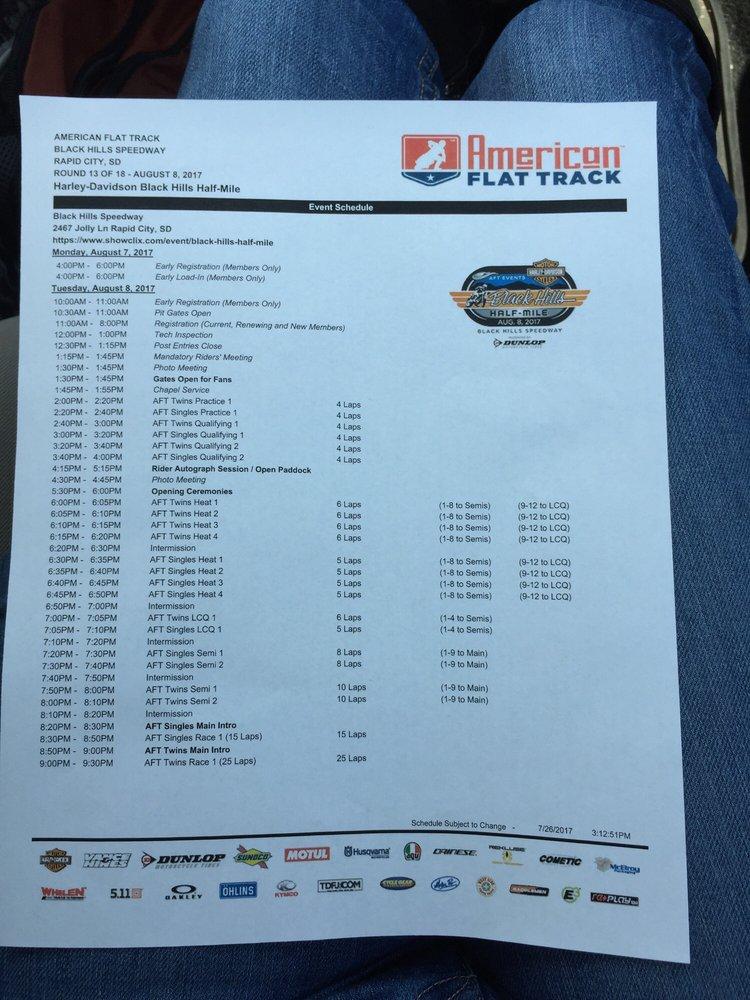 Black Hills Speedway: 2467 Jolly Ln, Rapid City, SD