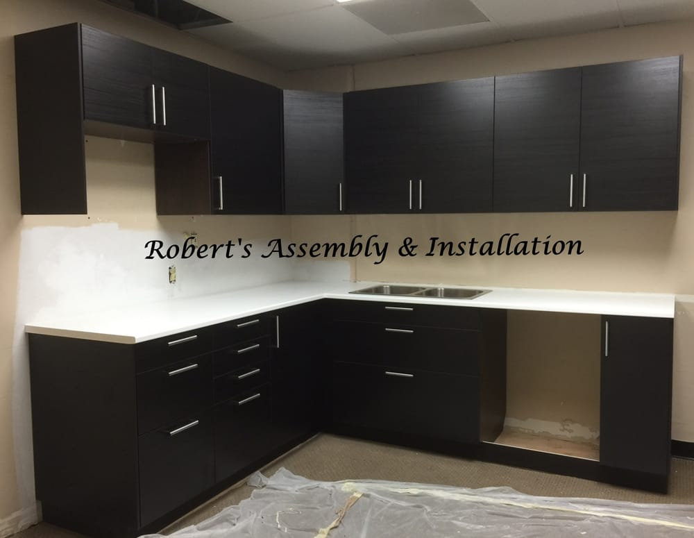 ikea sektion cabinets with accessories and countertop assembled and installed for san diego ca. Black Bedroom Furniture Sets. Home Design Ideas
