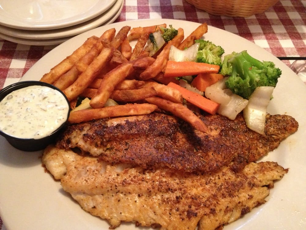 Canadian Walleye Plate With Two Fillets Blackened And