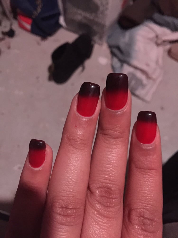 Mood Change gel nail polish on acrylics!! Usually painted as a ...