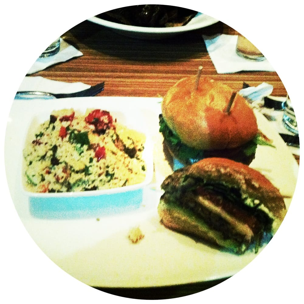 Veggieburger and couscous yelp for Table 51 laval
