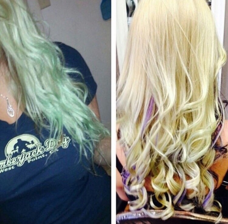 Color Correction By Nikki On My Hair That Turned Green In A Pool