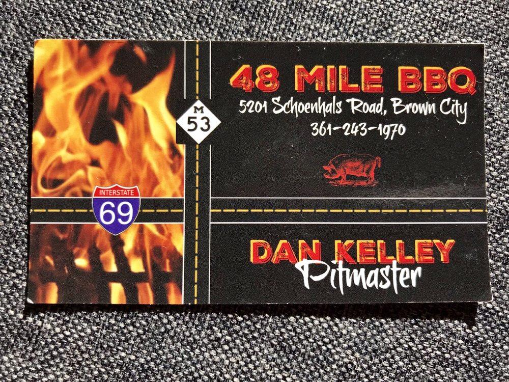 48 Mile BBQ: 613 N Cedar Rd, Imlay City, MI